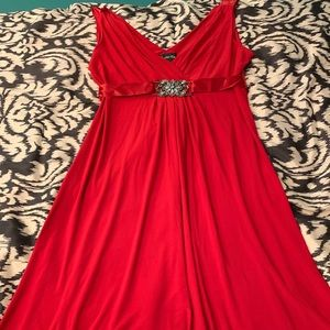 Dresses & Skirts - Sale today! NWOT Red flowy dress with jeweled belt